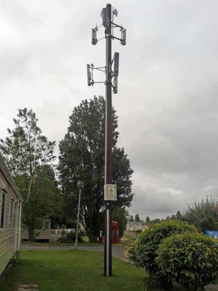wooden Wi-Fi mast: Swipe To View More Images