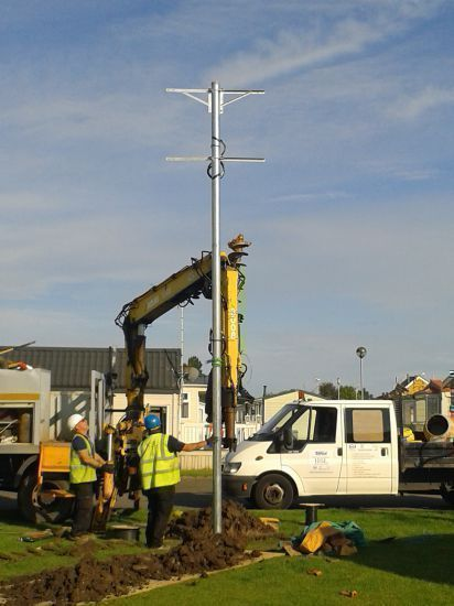 galvanised pole installation for rural broadband: Swipe To View More Images