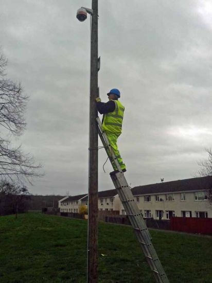 Pole installation for CCTV camera for North Kesteven District Council.: Swipe To View More Images