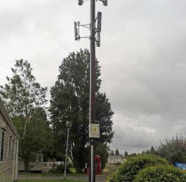 wooden Wi-Fi mast: Click Here To View Larger Image