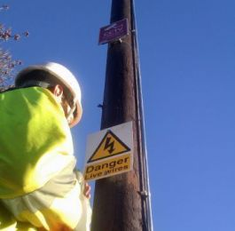 Pole installation for CCTV camera for North Kesteven District Council.: Click Here To View Larger Image