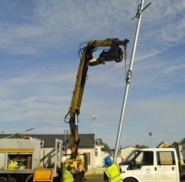 Installation of galvanised pole for Wi-Fi : Click Here To View Larger Image